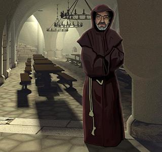 Die Abtei * Mönch Gesicht