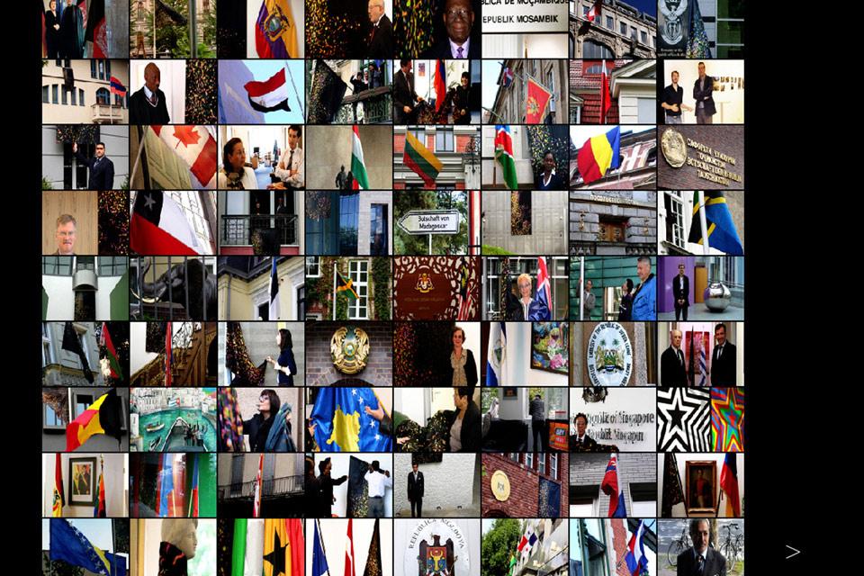 Bootschaft Life Flag Sabine Kakunko Christian Bennat Fotowand Design Flash Programmierung