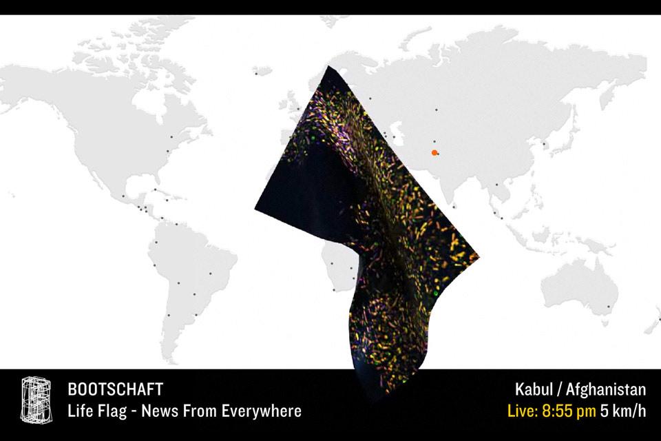 Bootschaft Life Flag Sabine Kakunko Christian Bennat Kunst Design Flash Animation Video Interaktiv