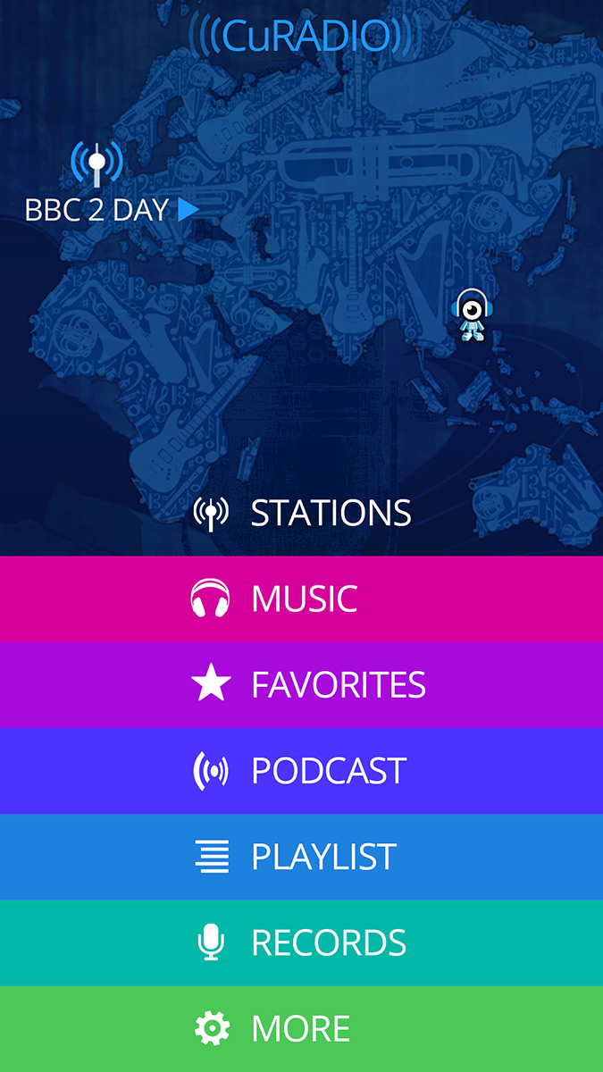 Cugate Radio App 1 Christian Bennat Programmierung UX UI Design Beratung Konzeption Interactiv