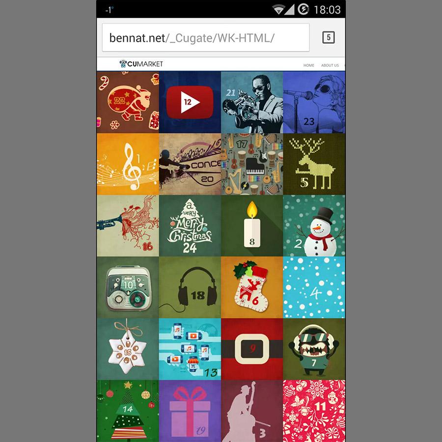 Cugate Weihnachtskalender Christian Bennat Beratung Design HTML UX UI