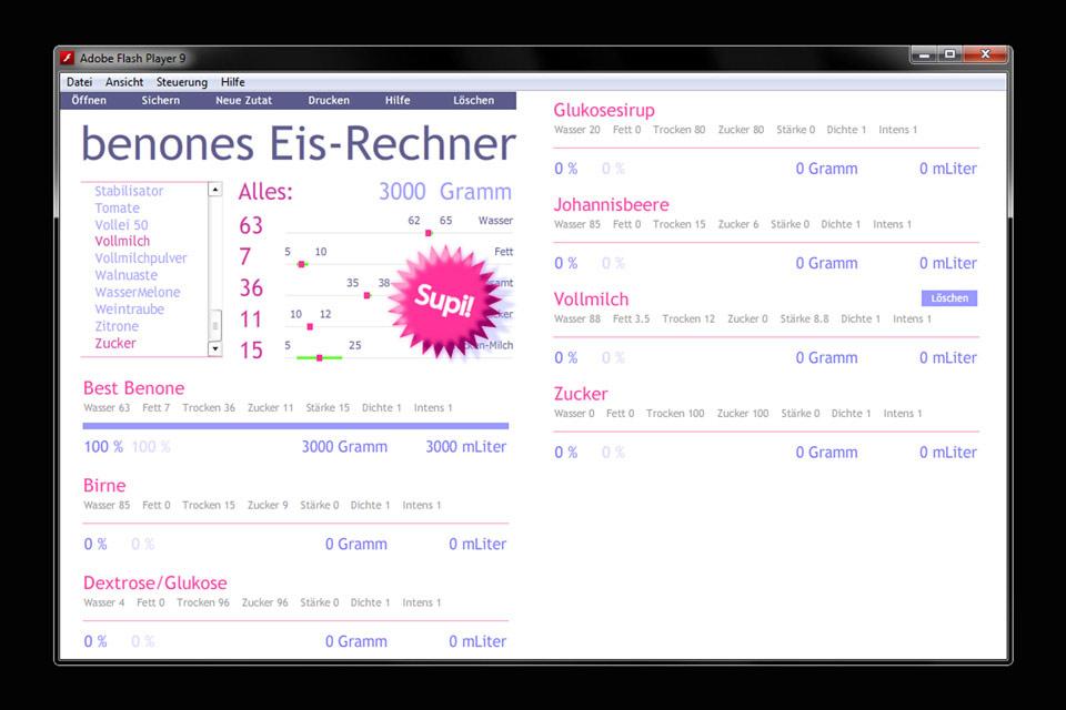 Eisrechner Christian Bennat Konzept App Design Flash UX UI Programmierung