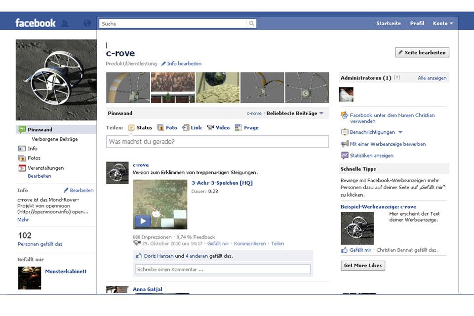 Facebook Projekte Öffentlichkeit Christian Bennat