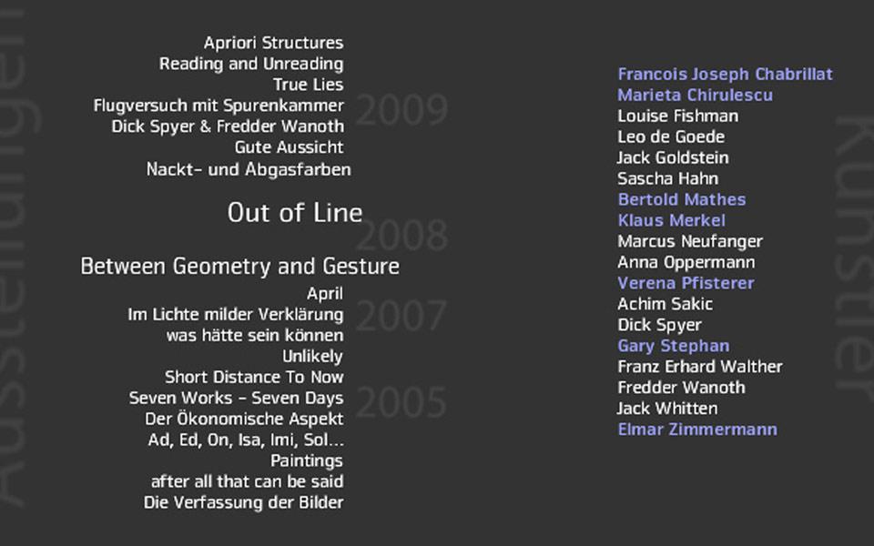Galerie Kienzle Christian Bennat Beratung Konzeption Website Design Flash UX UI