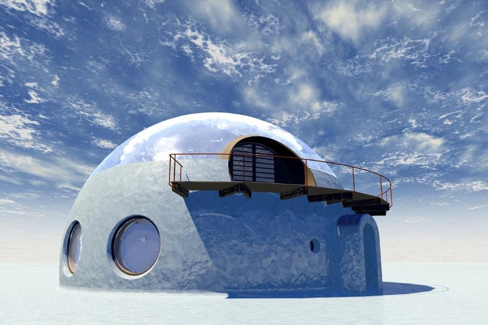 Qanuk Iglu Eis Bennat Projekt Konzept Architektur Design Marten Suhr 3D