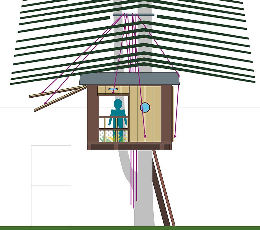 Baumhaus Bennat Projekt Design Architektur Entwurf