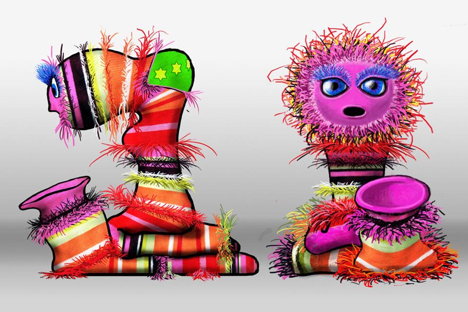 Socken Film Bennat Design 3D Character