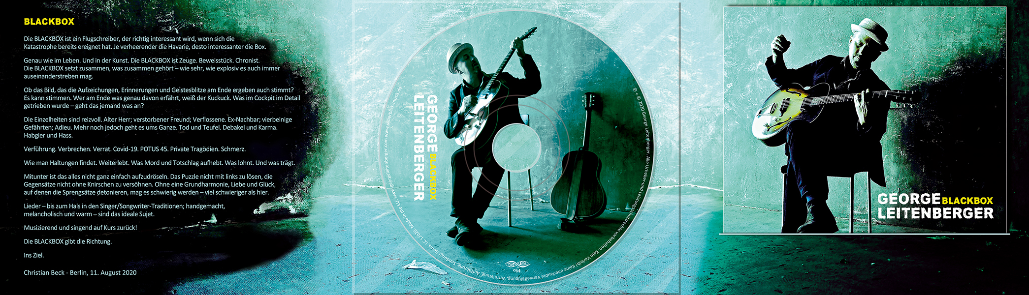 George Leitenberger CD-Cover DigiPack Booklet Christian Bennat Print Layout 2020