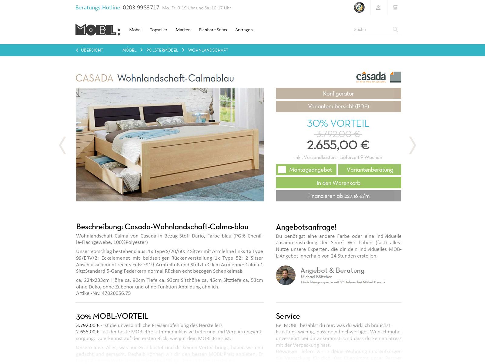 MOBL Online Möbel Shop - Design Update Layout UX UI - Christian Bennat - 2020